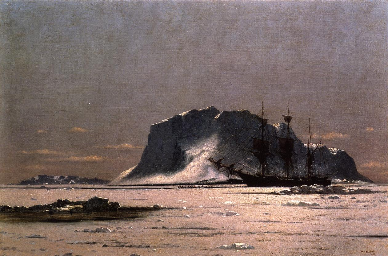 Freeing a Square Rigger  1875 | William Bradford | oil painting