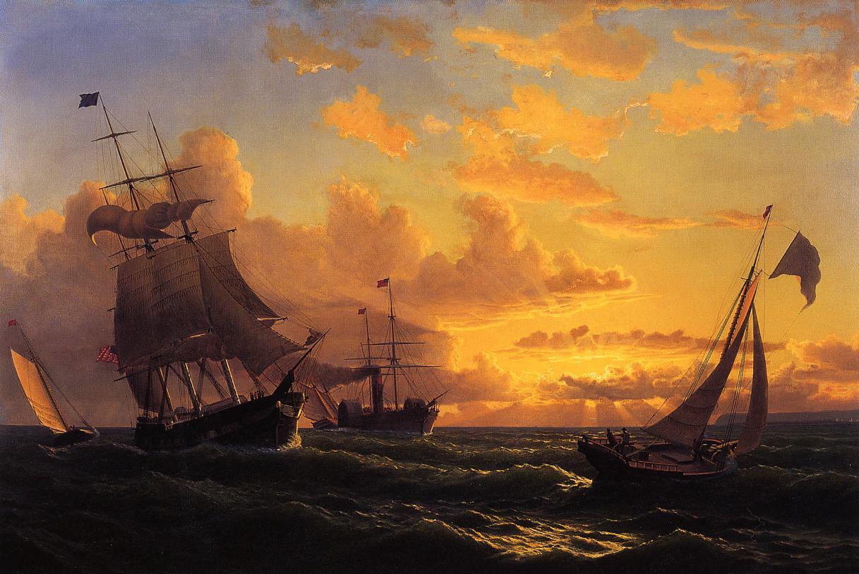 Fresh Breeze of Sandy Hook  1860 | William Bradford | oil painting