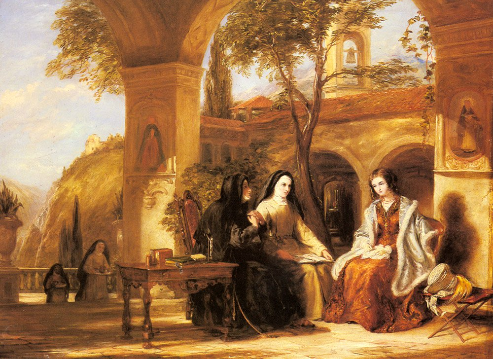 The World of the Cloister | William Collins | oil painting