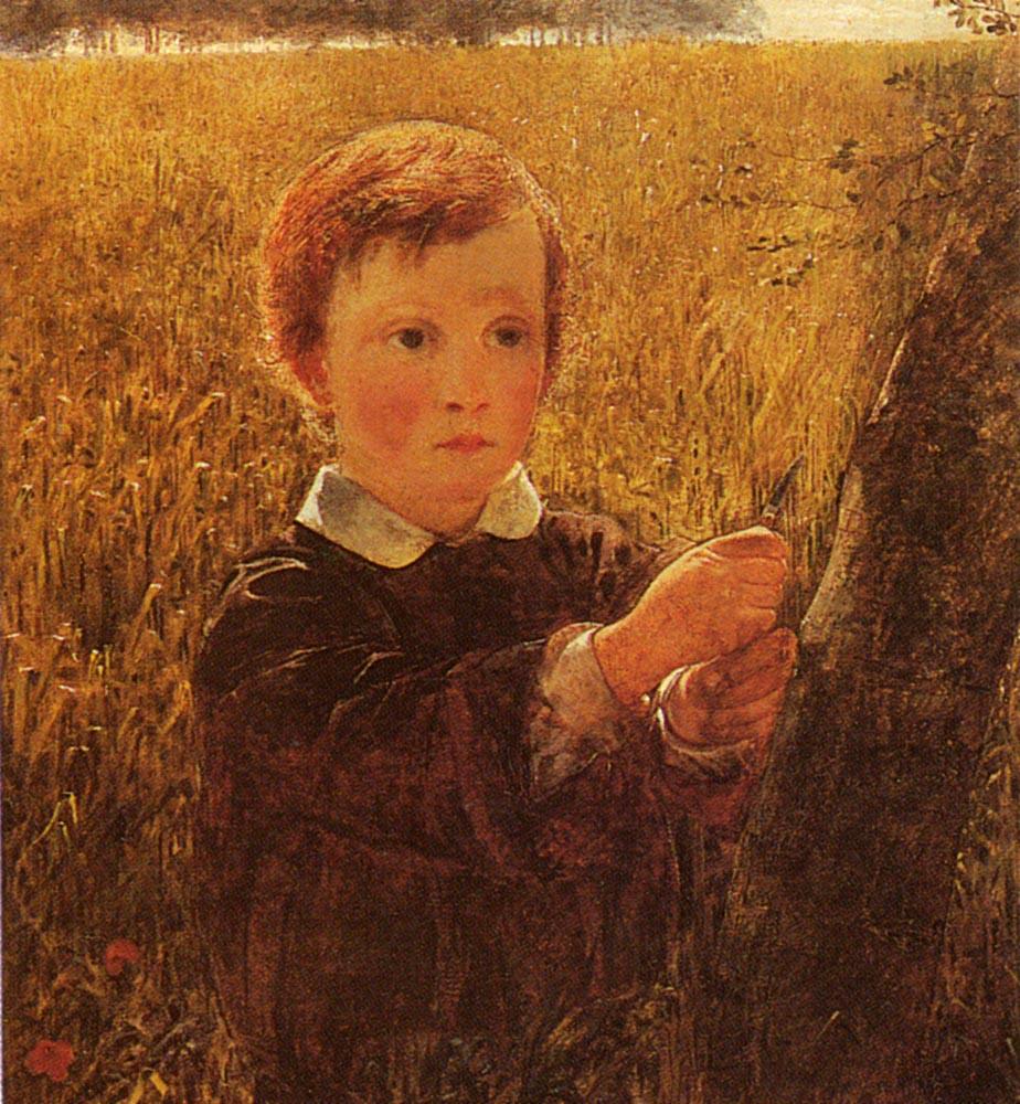 Carving His Name | William Davis | oil painting