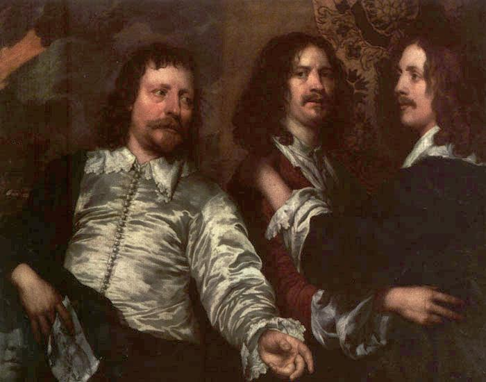 The Painter With Sir Charles Cottrell And Sir Balthasar Gerbier | William Dobson | oil painting