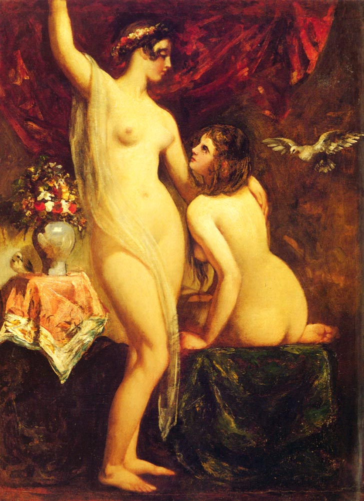 Two Nudes In An Interior | William Etty | oil painting