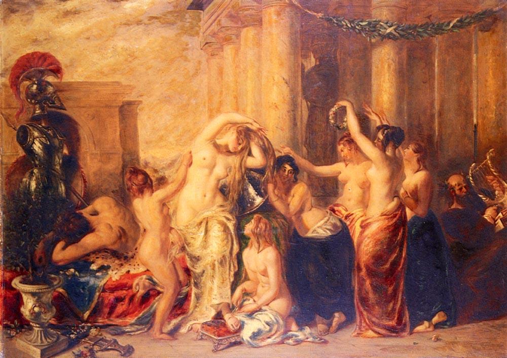 Venus And Her Satellites | William Etty | oil painting