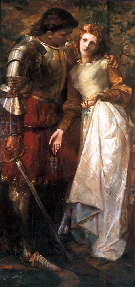 Ophelia and Laertes   William Gorman Wills   oil painting