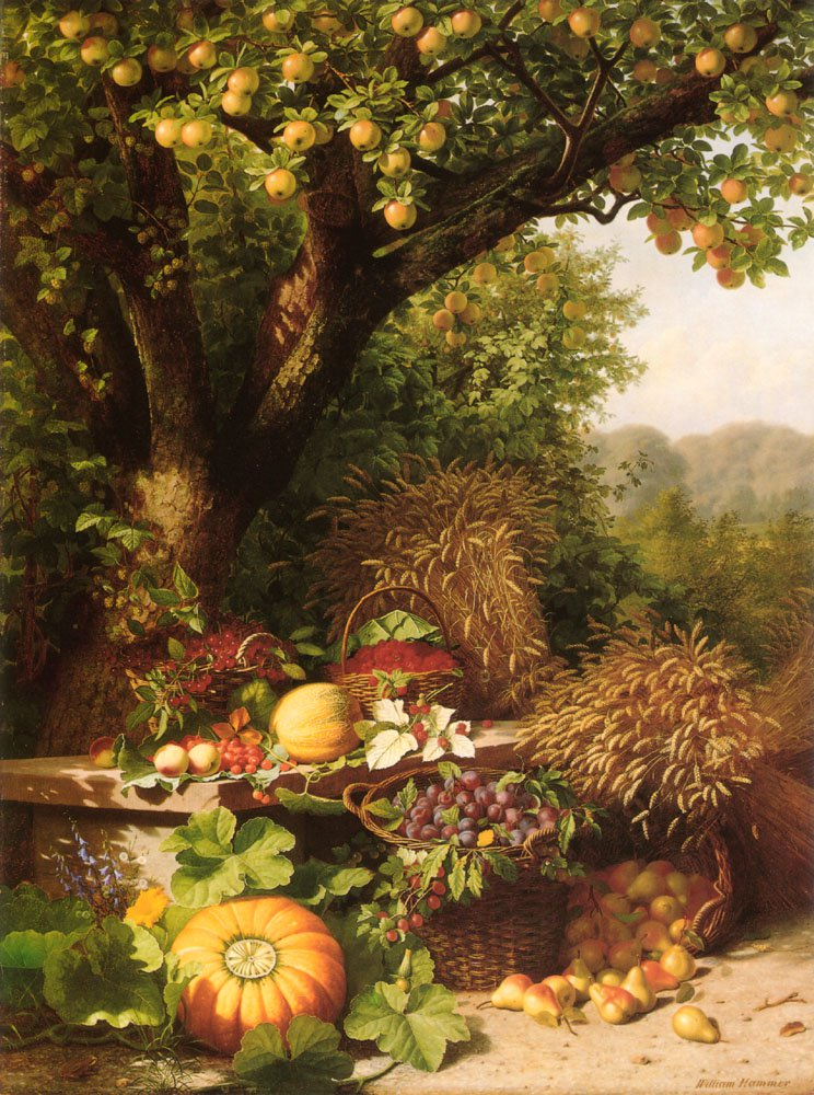 Fruits Of The Garden And Field | William Hammer | oil painting