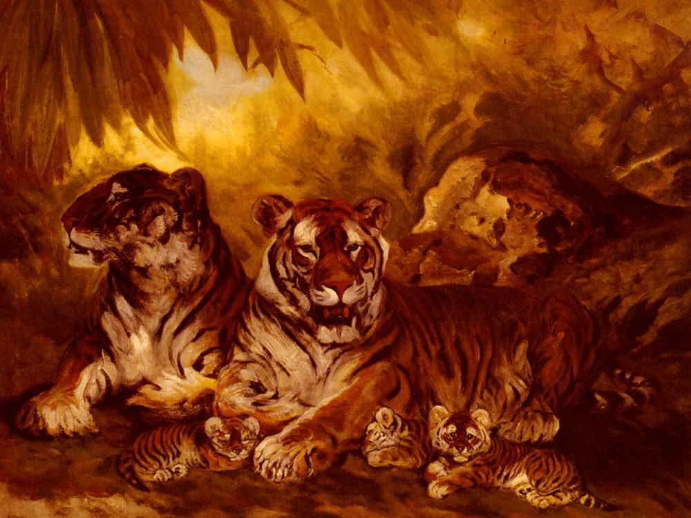 Masters Of The Jungle | William Henry Drake | oil painting