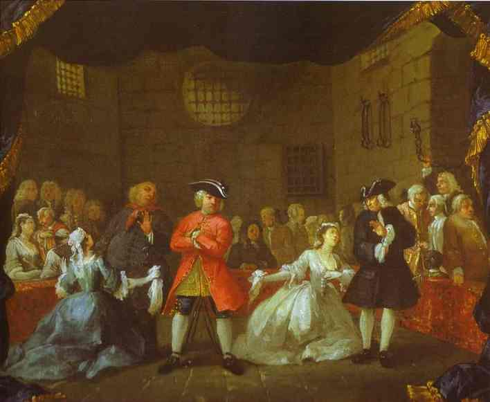 A Scene From The Beggars Opera 1728 | William Hogarth | oil painting