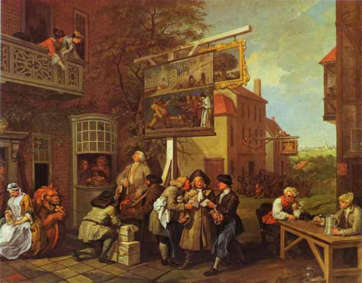 Canvassing For Votes 1755 | William Hogarth | oil painting