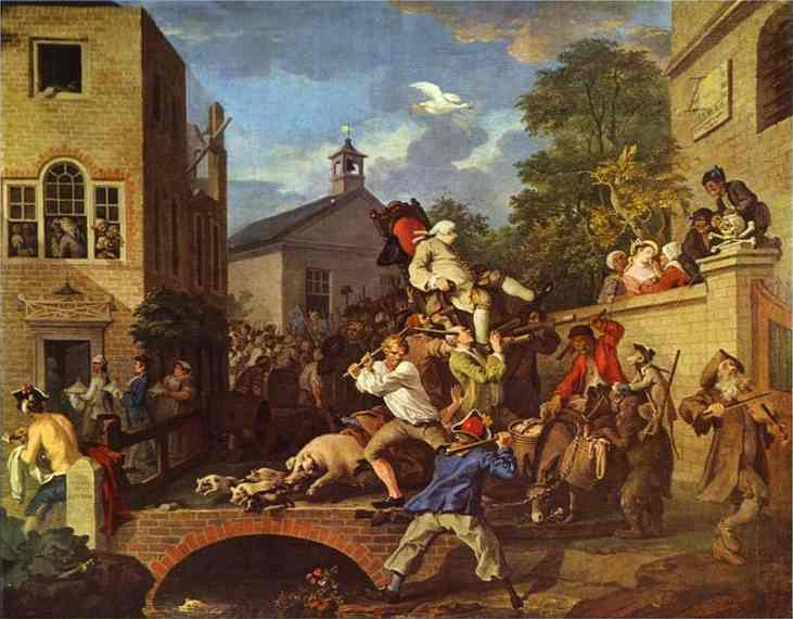 Chairing The Member 1755 | William Hogarth | oil painting