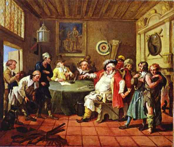Falstaff Examining His Recruits 1728 | William Hogarth | oil painting