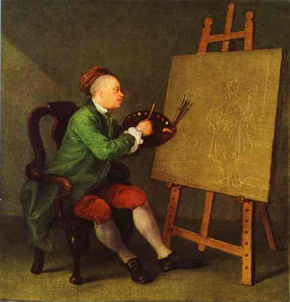 Hogarth Painting The Comic Muse 1757 | William Hogarth | oil painting