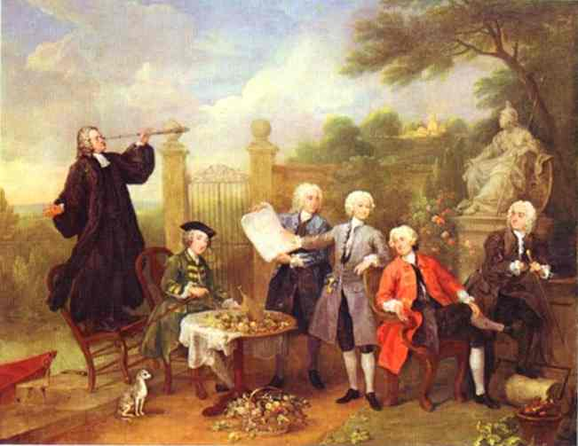 Lord Hervey And His Friends 1738-1739 | William Hogarth | oil painting