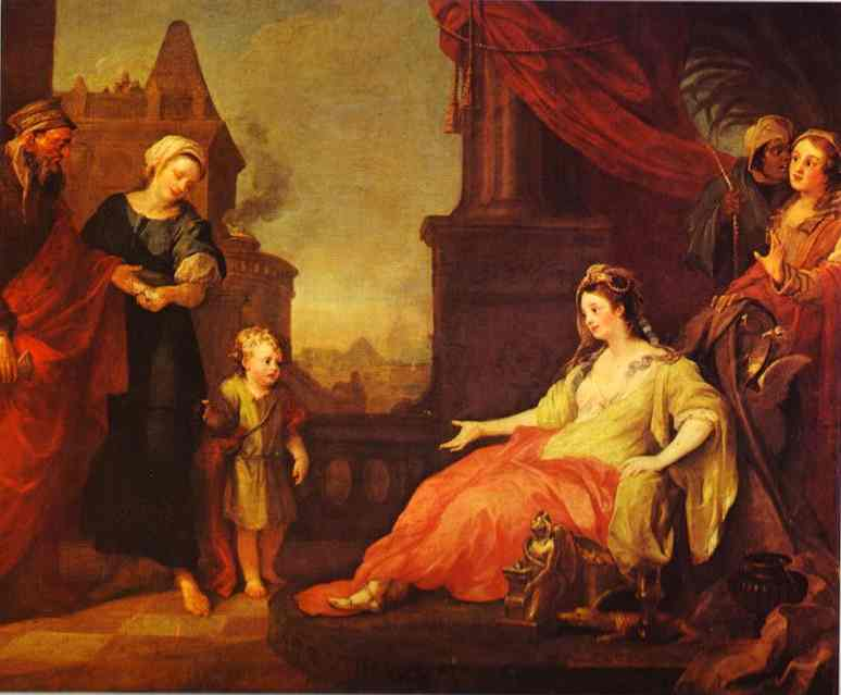 Moses Brought To Pharoahs Daughter 1746 | William Hogarth | oil painting