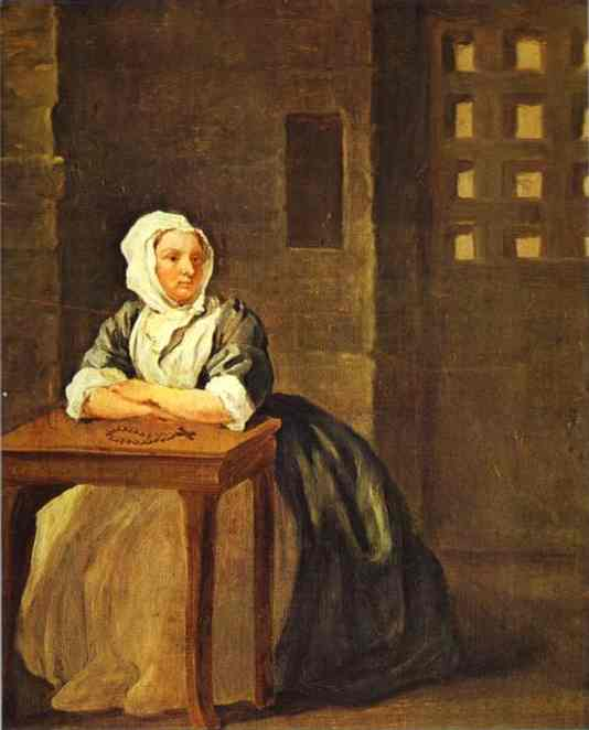 Sarah Malcolm In Prison 1733 | William Hogarth | oil painting