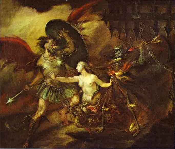 Satan Sin And Death 1735-1740 | William Hogarth | oil painting