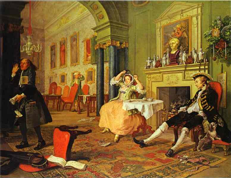 Shortly After The Marriage 1743 | William Hogarth | oil painting