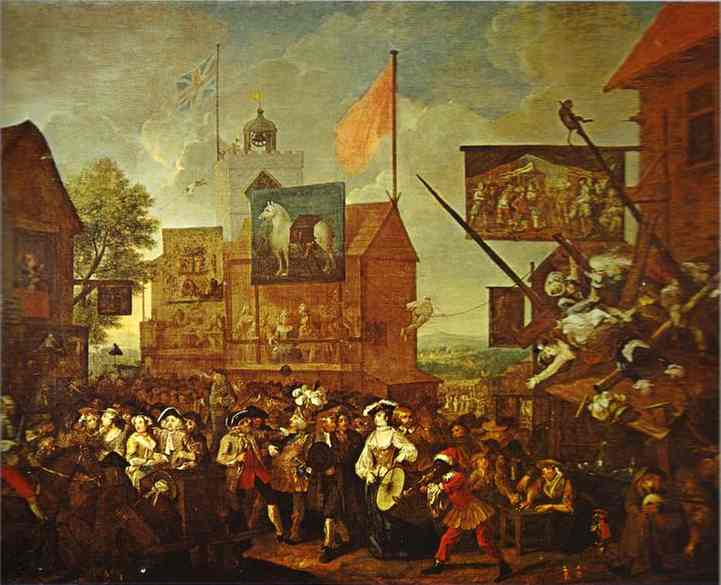 Southwark Fair 1733 | William Hogarth | oil painting