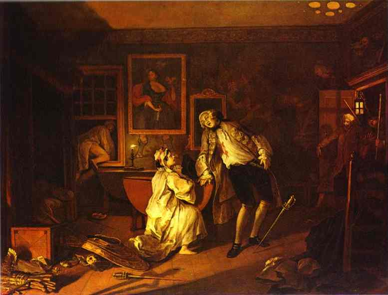 The Death Of The Earl 1743 | William Hogarth | oil painting
