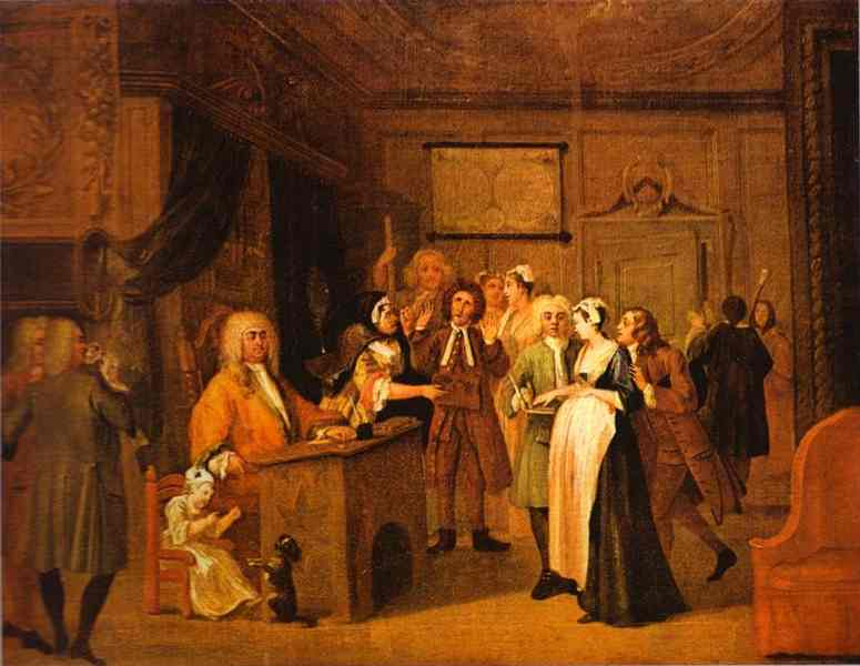 The Denunciation 1729 | William Hogarth | oil painting