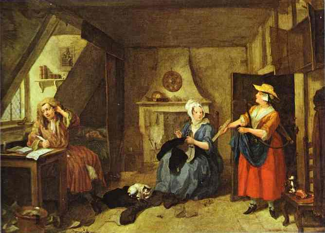The Distressed Poet 1736 | William Hogarth | oil painting