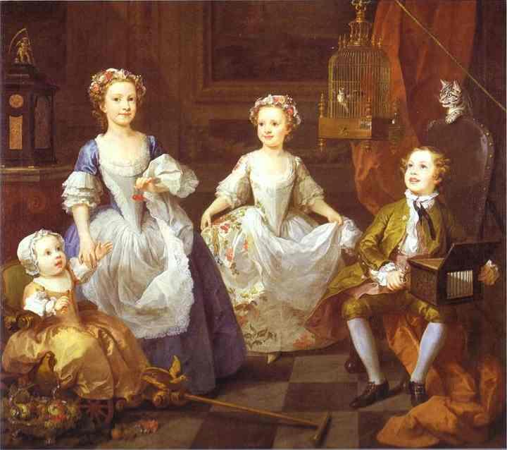 The Graham Children 1742 | William Hogarth | oil painting