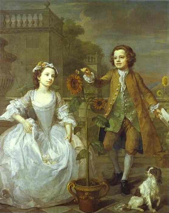 The Mackinen Children 1747 | William Hogarth | oil painting