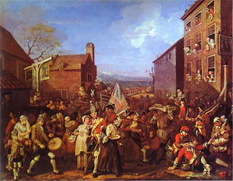 The March To Finchley 1749-1750 | William Hogarth | oil painting