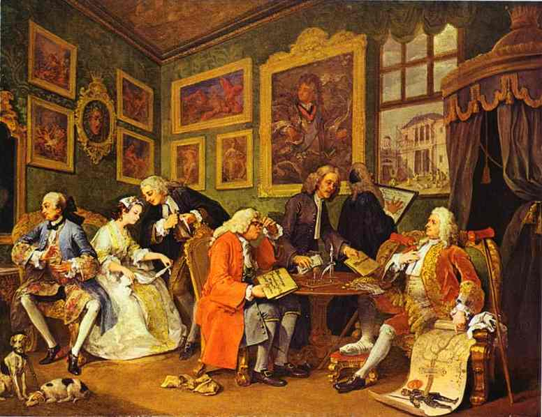 The Marriage Contract 1743 | William Hogarth | oil painting