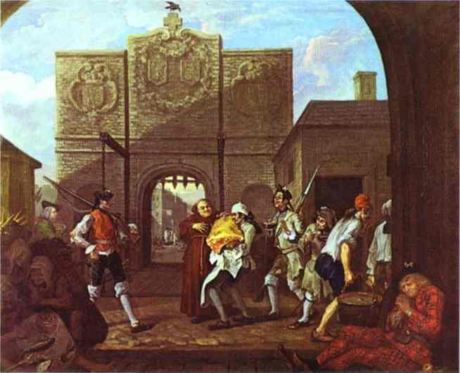 The Roast Beef Of Old England Or Calais Gate 1748 | William Hogarth | oil painting