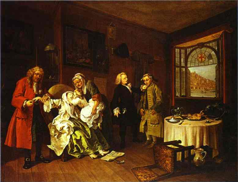 The Suicide Of The Countess 1743 | William Hogarth | oil painting
