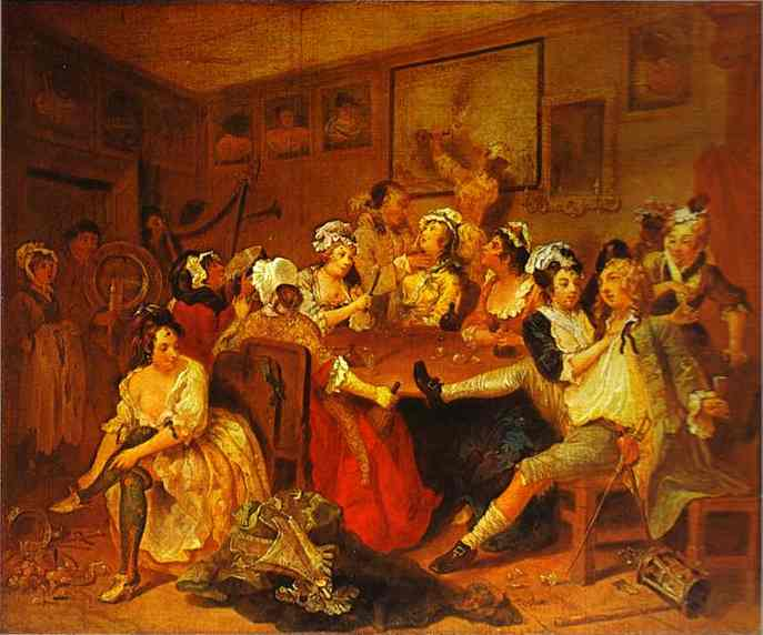 The Tavern Scene (A Rakes Progress) 1732-1734 | William Hogarth | oil painting