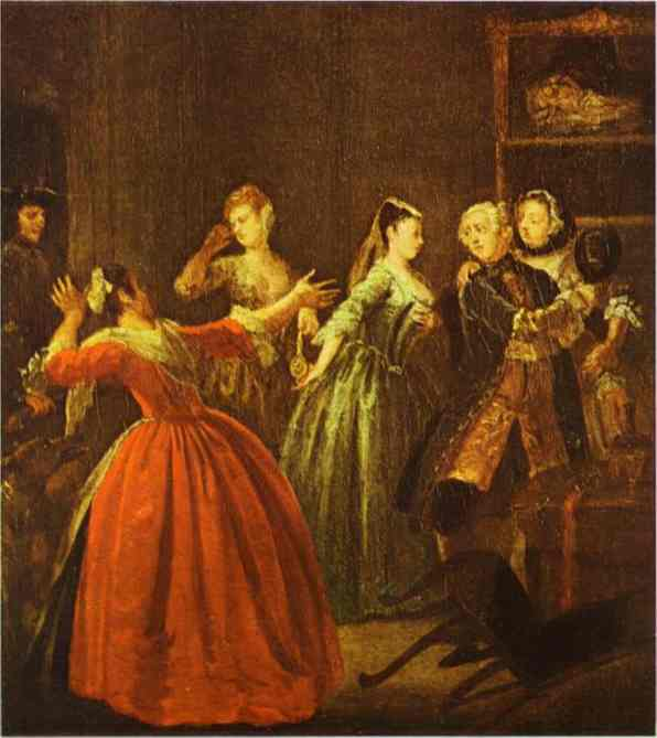 The Theft Of A Watch 1731 | William Hogarth | oil painting
