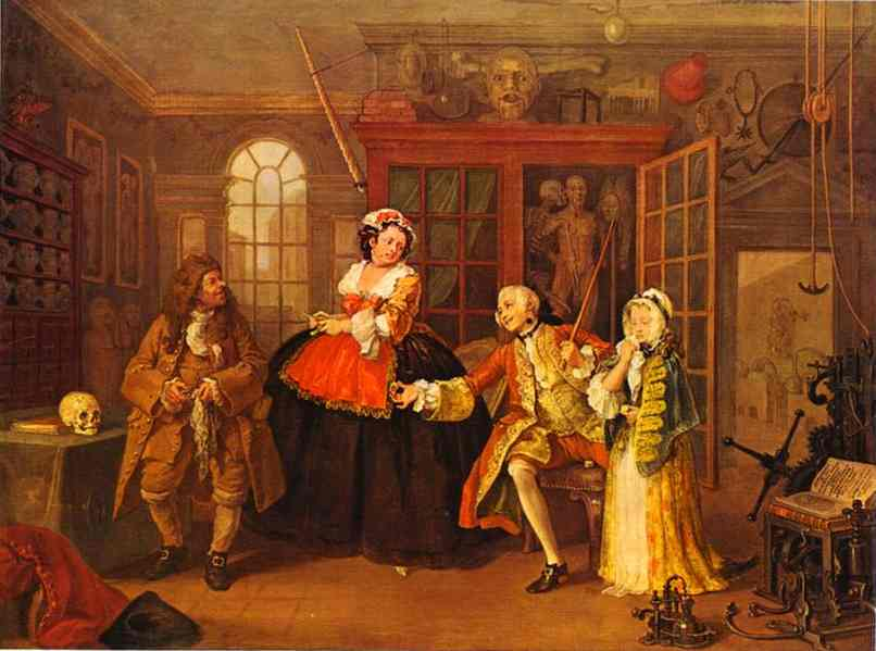 The Visit To The Quack Doctor 1743 | William Hogarth | oil painting