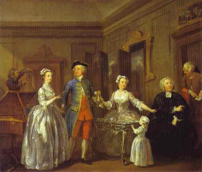 The Western Family 1730s | William Hogarth | oil painting