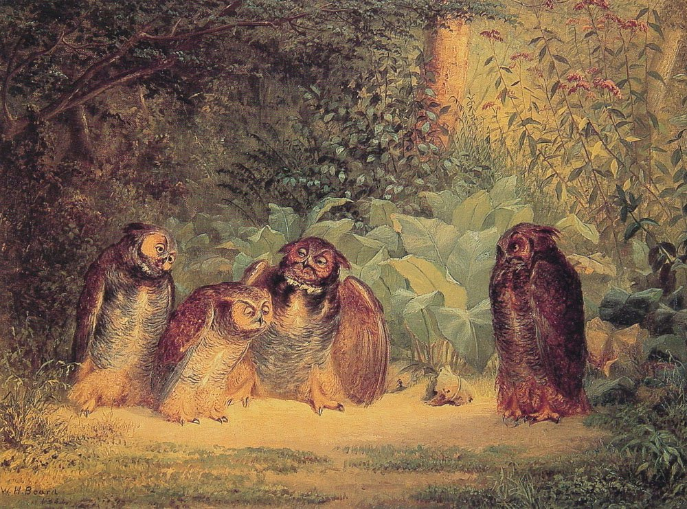 Owls | William Holbrook Beard | oil painting