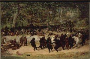 The Bear Dance 1942 | William Holbrook Beard | oil painting