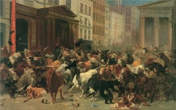 The Bulls And The Bears In The Market | William Holbrook Beard | oil painting