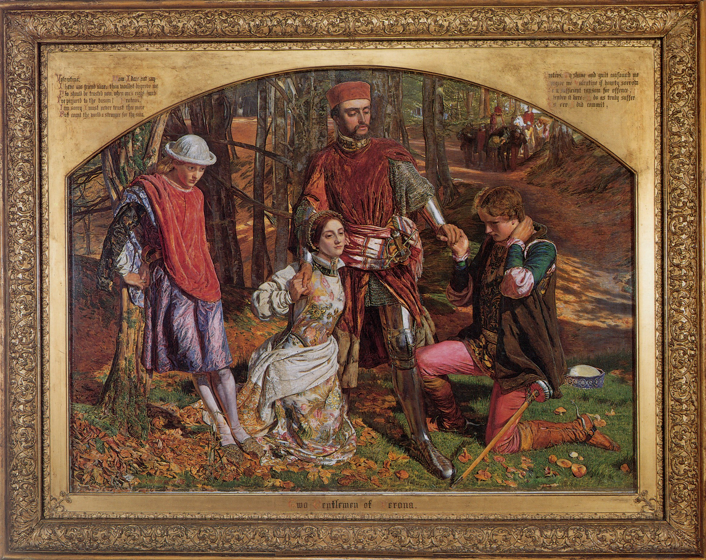Valentine Rescuing Sylvia From Proteus | William Holman Hunt | oil painting