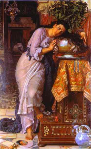 Isabella And The Pot Of Basil 1866-1868 | William Holman Hunt | oil painting