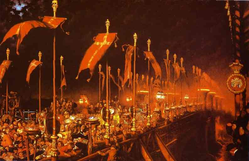 London Bridge On The Night Of The Wedding Of The Prince And Princess Of Wales 1863 | William Holman Hunt | oil painting