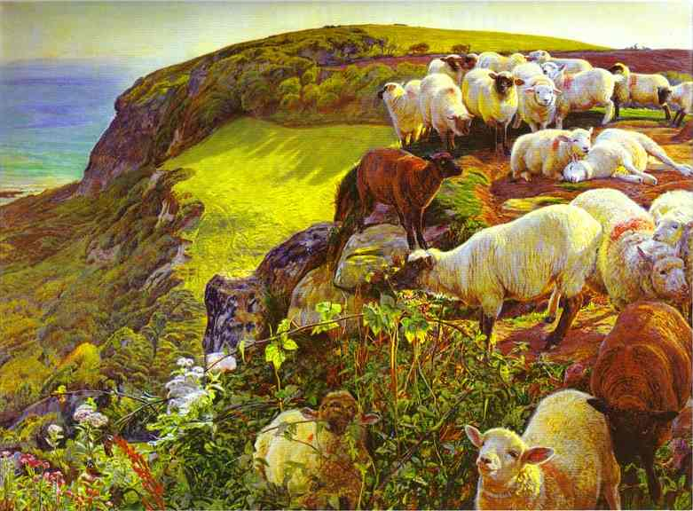 Our English Coasts 1852 | William Holman Hunt | oil painting