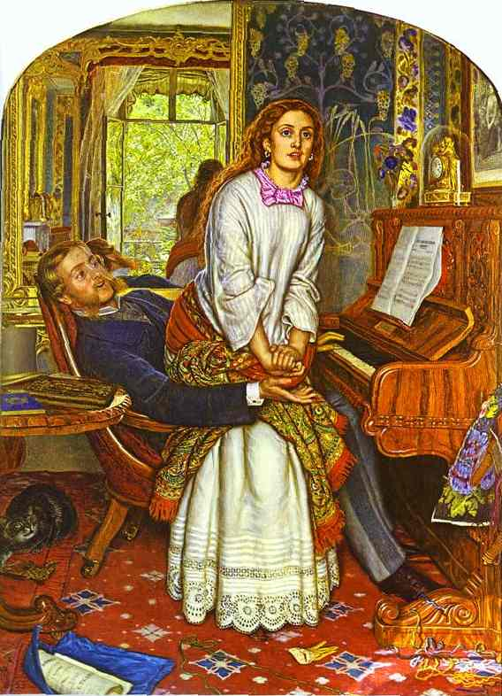 The Awakening Conscience 1853 | William Holman Hunt | oil painting