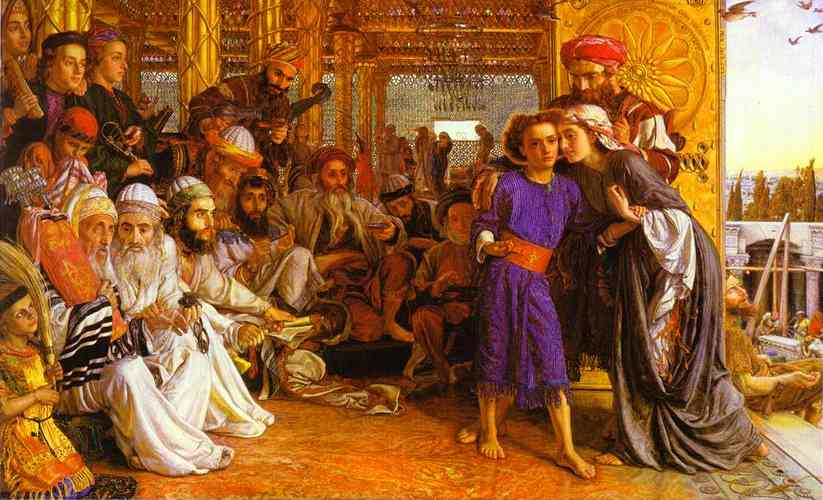 The Finding Of The Savior In The Temple 1854-1860 | William Holman Hunt | oil painting