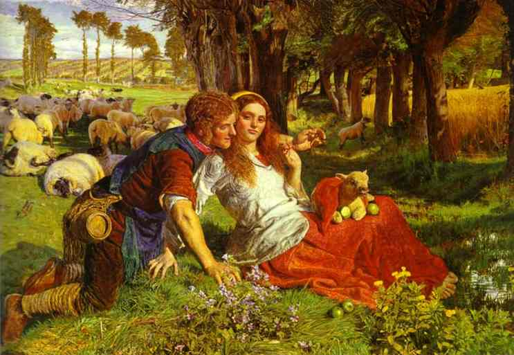 The Hireling Shepherd 1851 | William Holman Hunt | oil painting