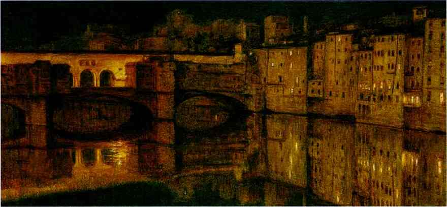 The Ponte Vecchio Florence 1867 | William Holman Hunt | oil painting