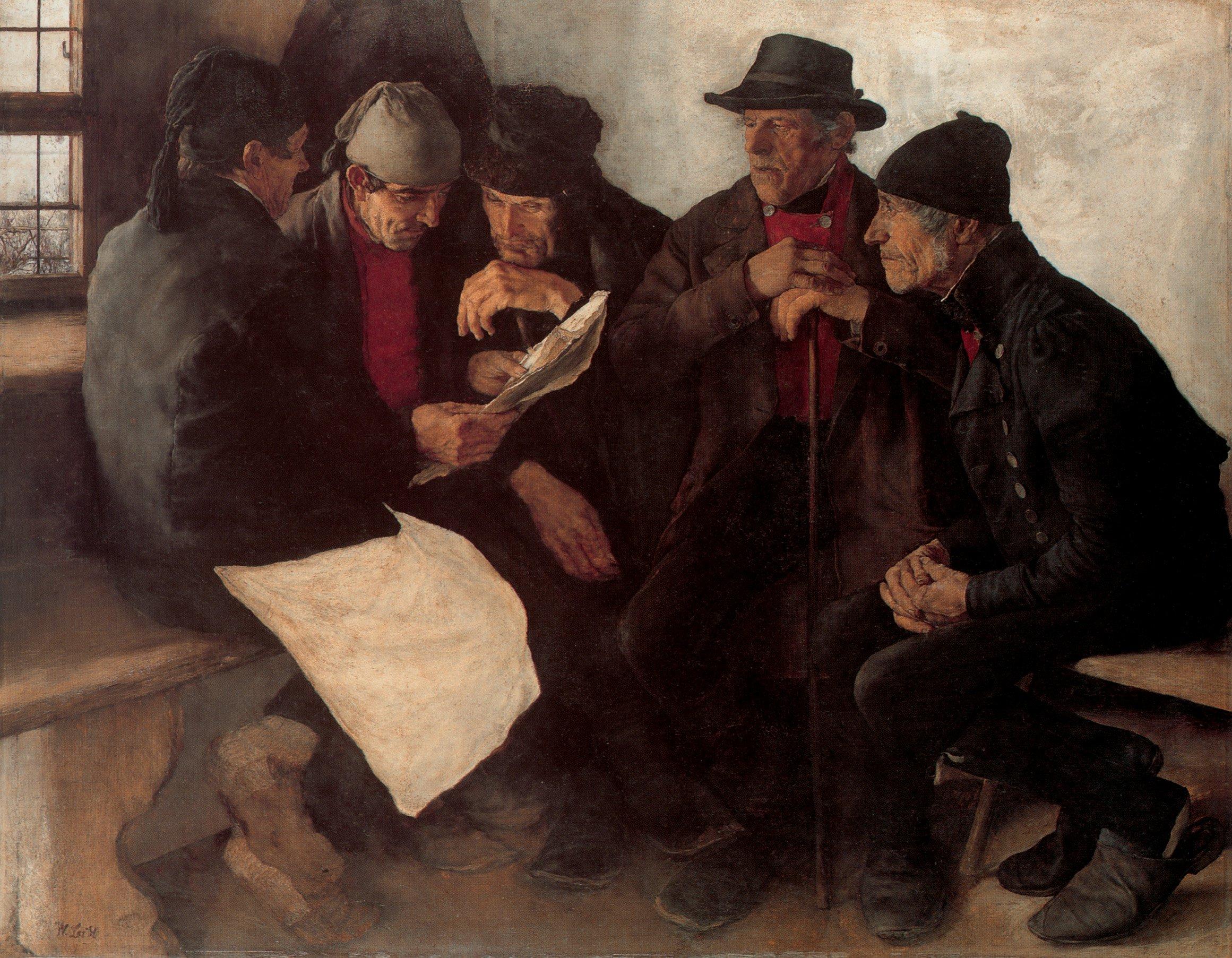 Dorfpolitiker | William Leibl | oil painting