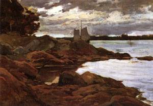 Close of Day on the Maine Shore 1881 | William Metcalfe | oil painting