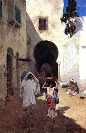 Street Scene Tangiers 1887   William Metcalfe   oil painting