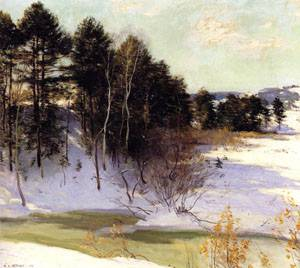 Thawing Brook 1911   William Metcalfe   oil painting