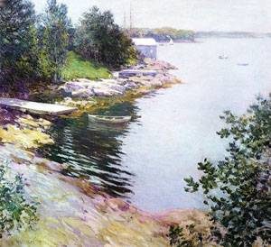 The Landing Place 1904   William Metcalfe   oil painting